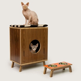 Mid Century Modern Cat Furniture & Litter Box Cover