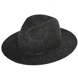 bal - Long Brim Felt Wool Hat (charcoal)