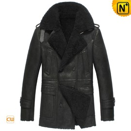 CWMALLS - Mens Black Sheepskin Winter Coat CW851306