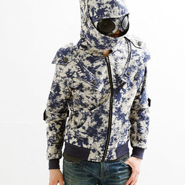 Paparazzi Armored Knight Goggle Hoodie(100% Handmade Jeans) Made To Order