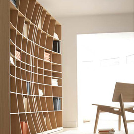 concave bookcases