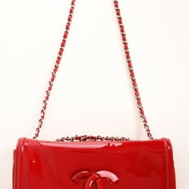 CHANEL - ,CHANEL RED SHOULDER BAG
