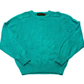 Eddie Bauer - Vintage 1990s 90s Teal Eddie Bauer Cotton Sweater Made in USA Menswear Size Medium