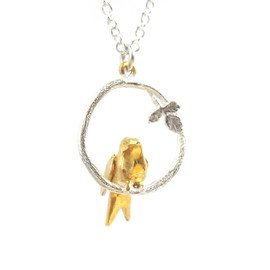 Alex Monroe - Tiny Bird Loop Necklace