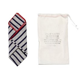Apolis - Apolis + Matteo Striped Linen Pocket Square