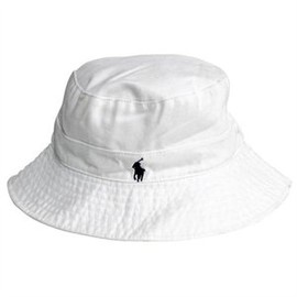 POLO RALPH LAUREN - White Cotton Bucket Hat