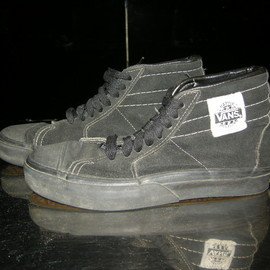 VANS - Native American Black suede  made in usa 1980