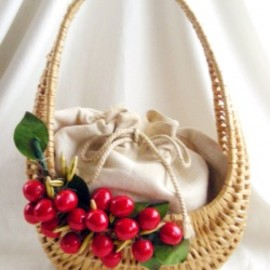 "Tally-Ho - 1950's Tally-Ho ITALY ""CHERRY FRUITS"" Handbag"