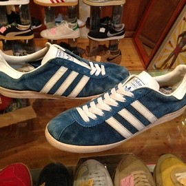 """adidas - 「<used>70's adidas CHAMOIS blue/white""""made in FRANCE"""" size:GB10(28.5cm) 15000yen」完売"""