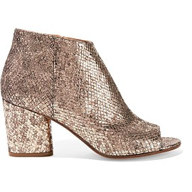 Maison Margiela - Metallic snake-effect leather ankle boots