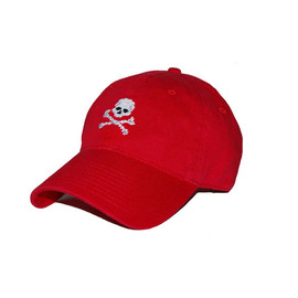 SMATHERS&BRANSON - Jolly Roger Needlepoint Hat (Red)
