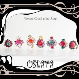 Ostara - Vintage Czech glass Ring