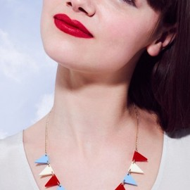 Tatty Devine - Bunting Necklace - Red/White/Blue