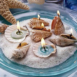 Seashell Candles,  Amazing Shell Craft Ideas to do all summer long!