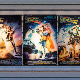 back to the future アクリル映画ポスター3セット