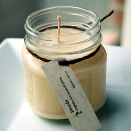 sprout - Warm Vanilla Soy Candle
