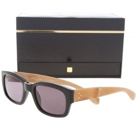Linda Farrow - Thick Rimmed Bamboo Sunglasses