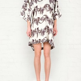 emma cook - Vine Print Silk Dress