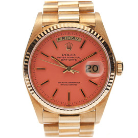"ROLEX  - All-Original Pink ""Stella"" Dial Yellow Gold Day-Date"