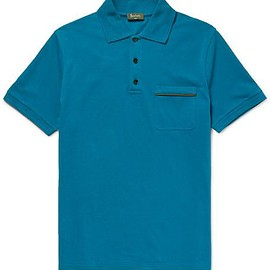 Berluti - Slim-Fit Contrast-Tipped Stretch-Cotton Piqué Polo Shirt