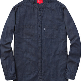 Supreme - Denim Band Collar Shirt