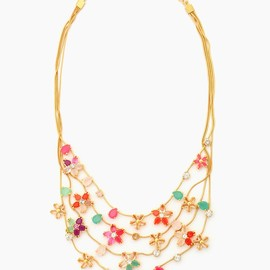 kate spade NEW YORK - GIVERNY FLORALMULTI STRAND NECKLACE