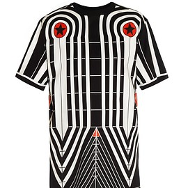 GIVENCHY - SS2015 Geometric Grid-print T-shirt