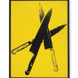 Andy Warhol - Knives, 1982, silkscreen