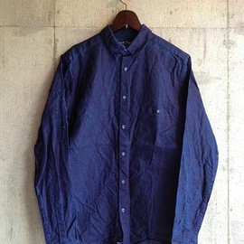 FRANK LEDER - INDIGO WASHED OUT LINEN SHIRT