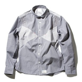 JUN WATANABE - GINGHAM/STRIPE TRIANGLE SHIRTS