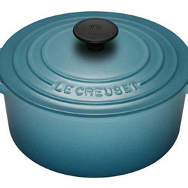 LE CREUSET - Cast Iron Round Casseroles Color:Teal