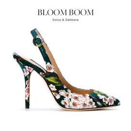 DOLCE&GABBANA - SS2014 Floral-print Mule shoes