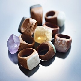 Jeweled Wood Rings - Jeweled Wood Rings