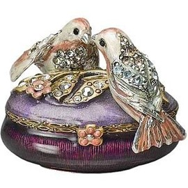 Jay Strongwater - Lovebirds Oval Box