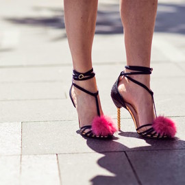 Sophia Webster - Sophia Webster Jo Jo Fur and Suede Sandals