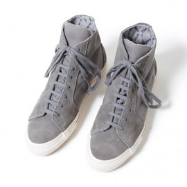 nonnative - WANDERER TRAINER COW LEATHER × COTTON CANVAS WITH GORE-TEX® 2L