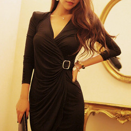 LUXE ASIAN - Black lounge Dress