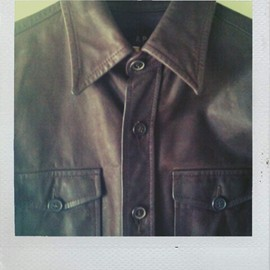 A.P.C. - CPO Leather shirt