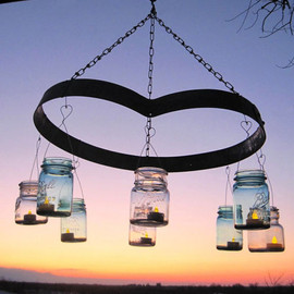 Etsy Transaction - Heart Mason Jar Chandelier, Wine... - Heart Mason Jar Chandelier