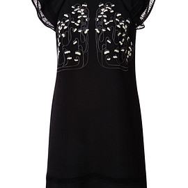GIAMBA - Pre-Fall 2015 Lily Embroidered Dress With Lace Trim