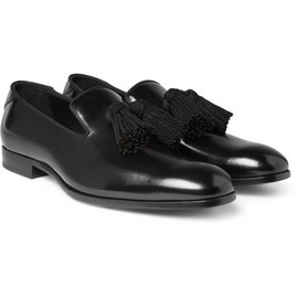 Jimmy Choo - Foxley Tasselled High-Shine Leather Loafers