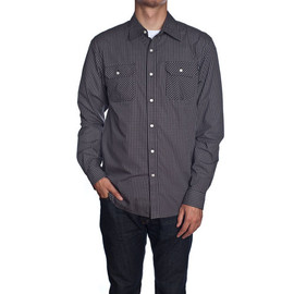 HUF - FITZGERALD GINGHAM L/S BUTTON UP (Black)