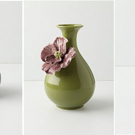 Anthropologie - Floral Ceramic Vases