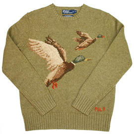 POLO RALPH LAUREN - CREW NECK PHEASANT SWEATER OLIVE