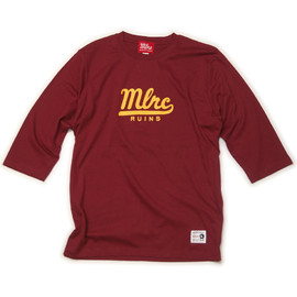 "MILLION RACE - H/S TEE ""MLRC RUINS""(Burgundy)"