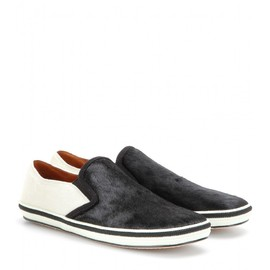 MARC JACOBS - SS2014 PONY-HAIR SLIP-ON SNEAKERS