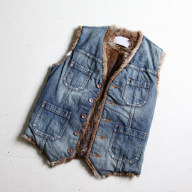 kolor - Denim Vest Inside Fur