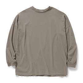 nonnative - CLERK L/S TEE COTTON JERSEY OVERDYED