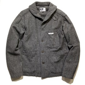 ENGINEERED GARMENTS - Shawl Collar Shirt Jacket - Wool Flannel