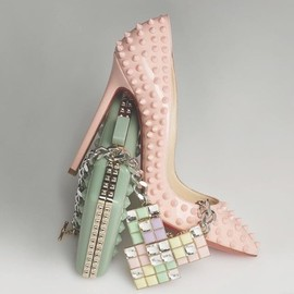 Christian Louboutin - Christian Louboutin pumps and Valentino clutch